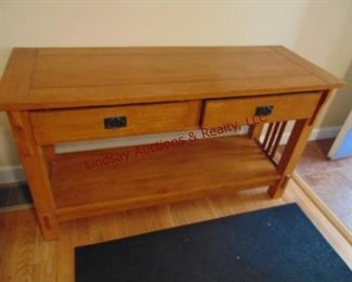202 mission oak entry table