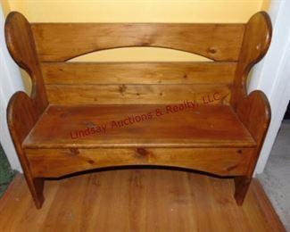 238 Wood childs doll bench