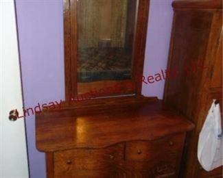 241 Antique oak dresser