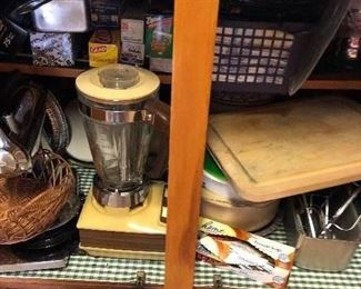 All kind of great kitchen stuff underneath the cabinets