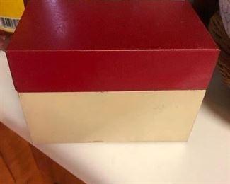 Old metal recipe box