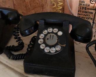 Vintage Bakelite telephones