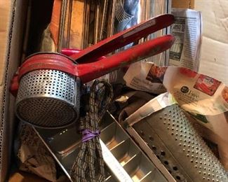 Great collection of vintage kitchen utensils