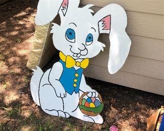 Funny bunny Easter yard art