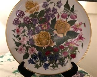 Franklin porcelain the flowers of the year plate collection!