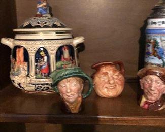 Staffordshire Toby mugs