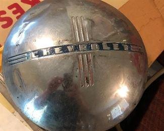 Vintage Chevrolet hubcap