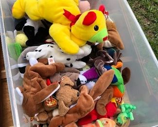 Yes we have beanie babies but we have a lot more than that