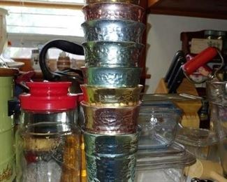 Mid-century modern colorama aluminum glasses