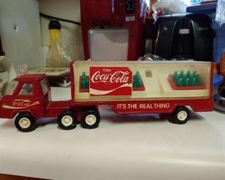Metal Coca-Cola truck carrier