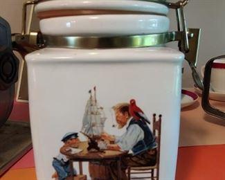 Norman Rockwell tobacco-jar