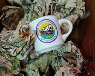 Boy Scouts National Jamboree cups dating back to 1953