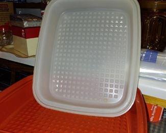 Tupperware meat container marinator