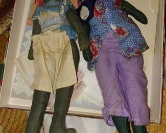 Black Americana dolls handmade circa 1940
