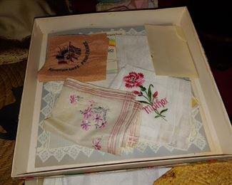 Vintage ladies handkerchiefs