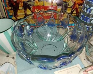 Mikasa Blue Iris Bowl