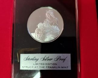 Franklin Mint .999 silver Christmas coin