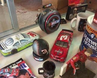 Good selection of vintage NASCAR collectibles