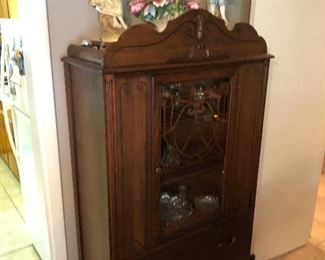 Pretty blind china cabinet antique