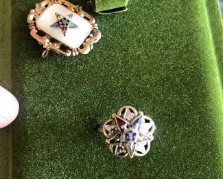 10 karat gold Masonic rings