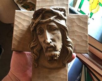 Beautiful wooden carving of Jesus