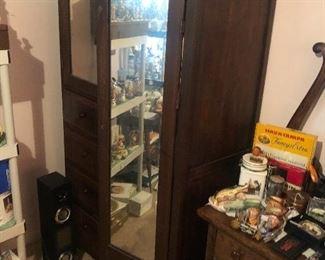 Antique mirror chifferobe