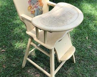 Vintage 1950s high chair