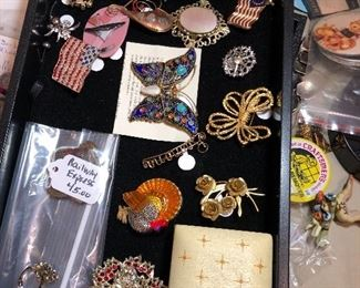 Just beginning of the Vintage costume jewelry and real jewelry