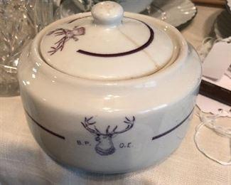 Buffalo china sugar bowl