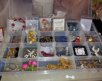 Great vintage jewelry also gold and silver