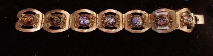 Gorgeous vintage Mexican silver bracelet