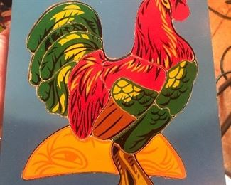 VINTAGE 1975 JUDY/INSTRUCTO Rooster WOOD PUZZLE 15 PCS