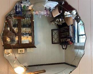 Great shape to this vintage mirror