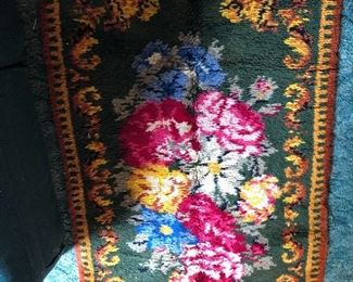 """Hand latched rug-67"""" x 38"""""""