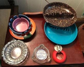 Nice collection of vintage ash trays
