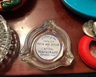 Old ashtray from Fifth Ave Diner Capital Diner