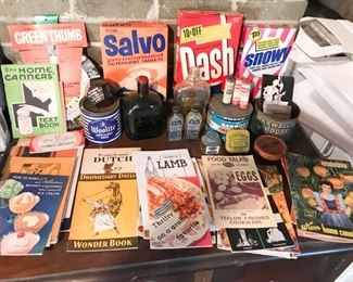 Advertising cookbooks etc