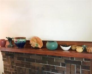 Art pottery, including Roseville
