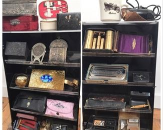 Shaving, vanity and sewing collectibles