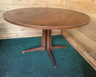 Round mid century dining table