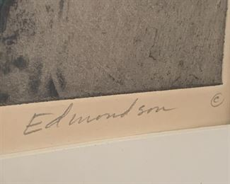 Signed and numbered etching by Leonard Edmondson