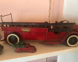 1930s toys including this Structo fire truck