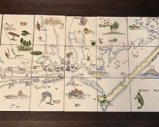 Tile table depicting Carteret County NC. Dated 1960