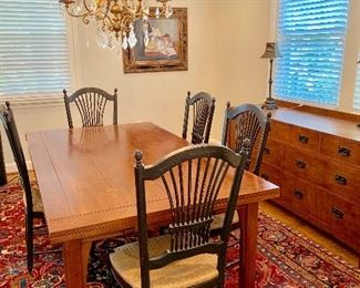 Stickley dining table and  buffet