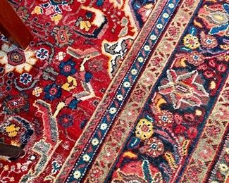 "Vintage Mahal rug.  Approx 9'7"" x 12"
