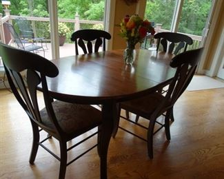Kitchen table with fan back chairs