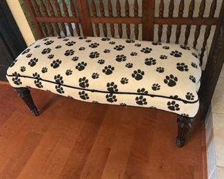 Dog Paw Ottoman