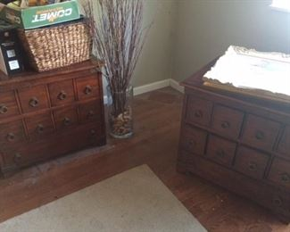 beautiful matching end tables with lots of storage