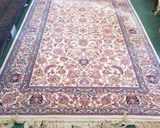 "Lovely Ivory ground 8'8"" x 12 Karastan Tabriz 738 rug"