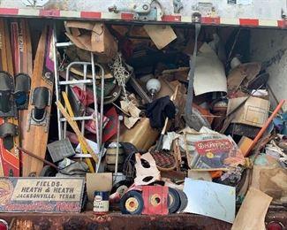 Tractor trailer loaded with collectibles!